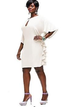 Monif C. Indiana Ruffle Shift Dress. Sonsi.com. $188.