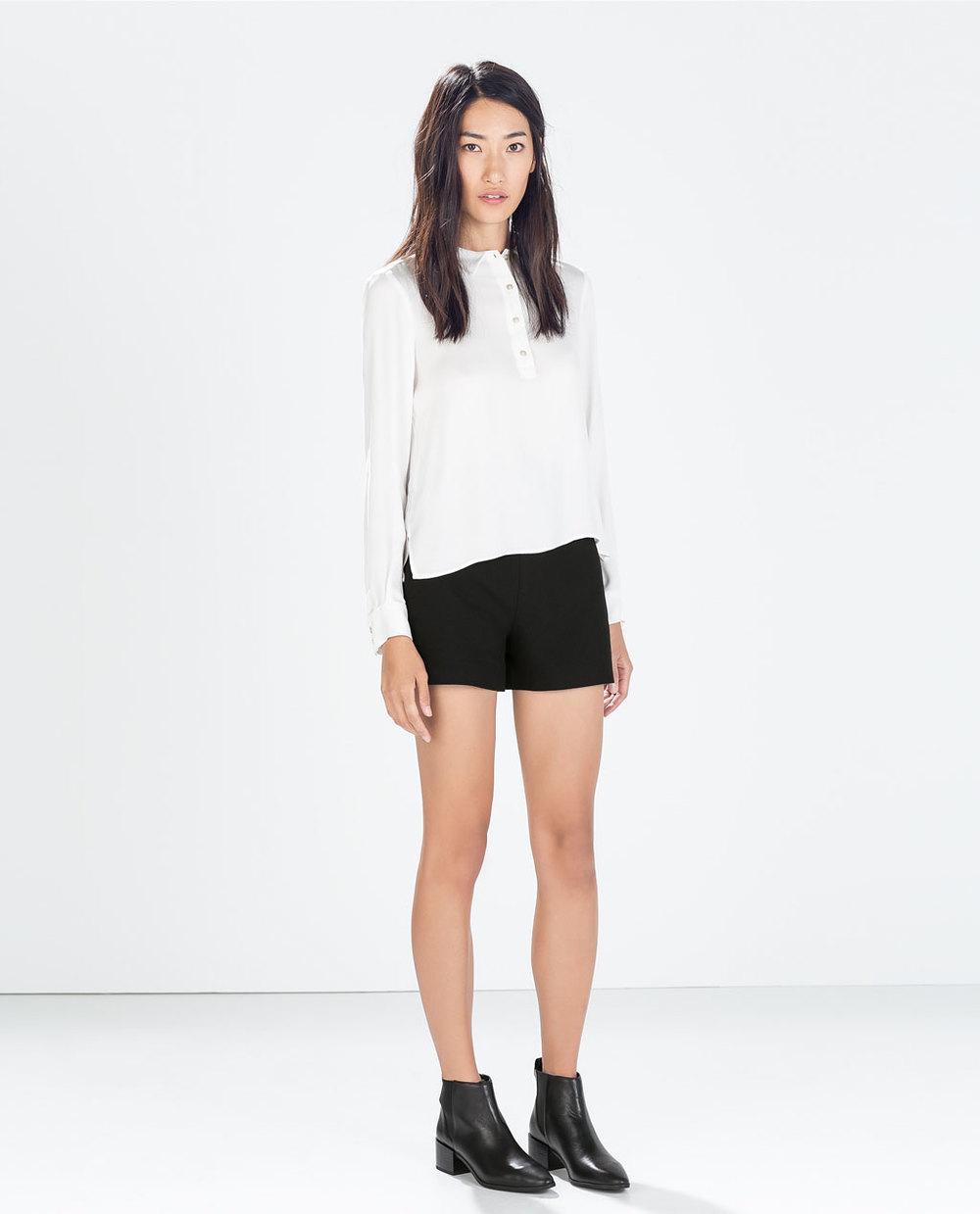 High Waist Shorts. Zara. $59.90.
