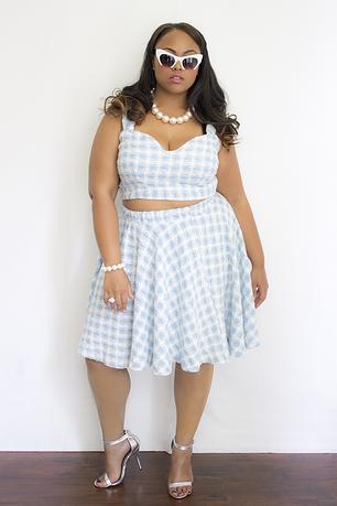 Monroe Bralette & Monroe Skirt. Zelie for She. $45.00 & $50.00.
