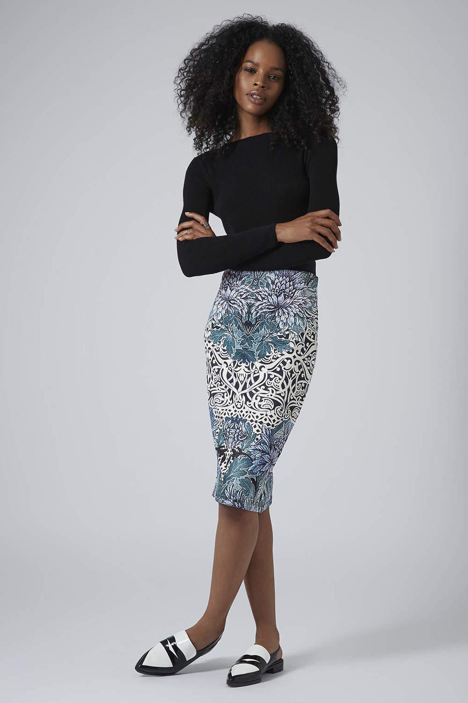 Topshop USA Textured Deco Tube Skirt. Topshop. $52.