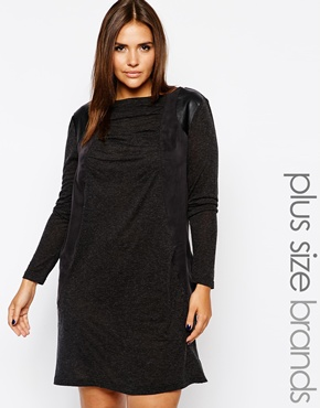 Long Sleeve Jersey Panel Dress. Carmakoma. $203.76