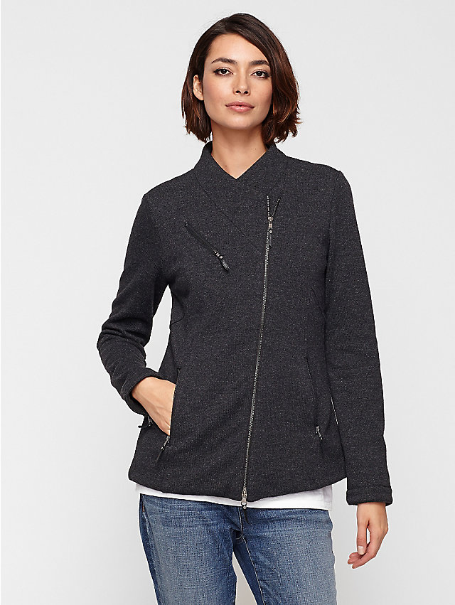 Eileen Fisher Shaped Jacket in Fluffy Fleece Wool Blend. Eileen Fisher. $378.