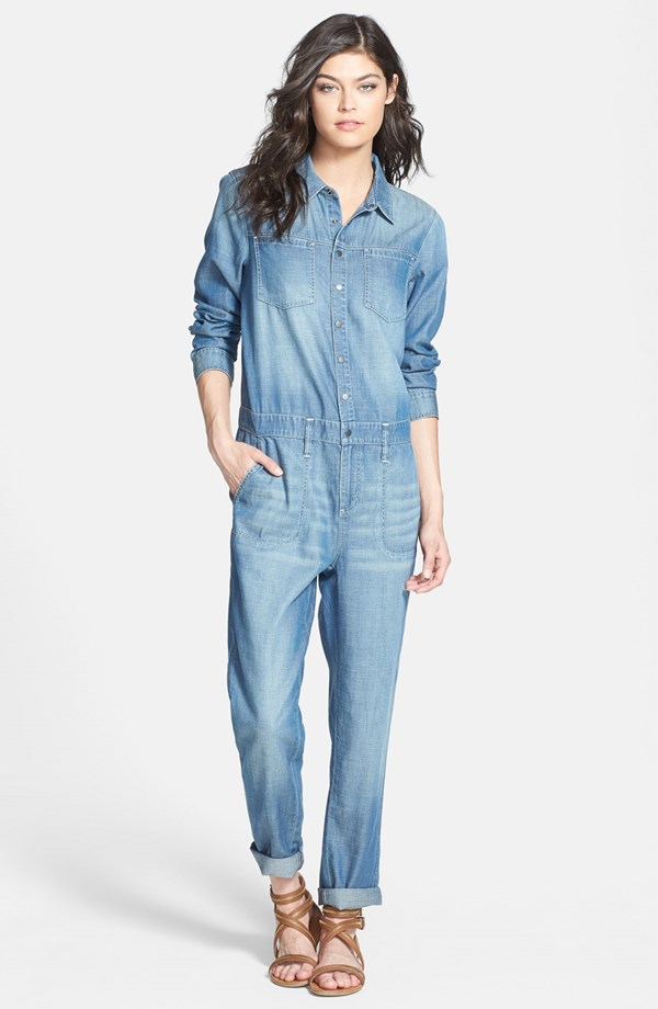 This can work for the short waisted- giving the illusion of a longer torso. However, if it doesn't work, steer clear- don't force it. Ah, fashion. In the end, it's an art, not a science. Treasure & Bond Boiler Jumpsuit. Nordstrom. $98.