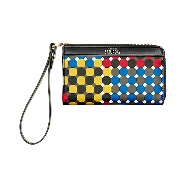 Kate Spade Coated Canvass Wristlet in Tic Tac Tile. Kate Spade Saturday. $50.