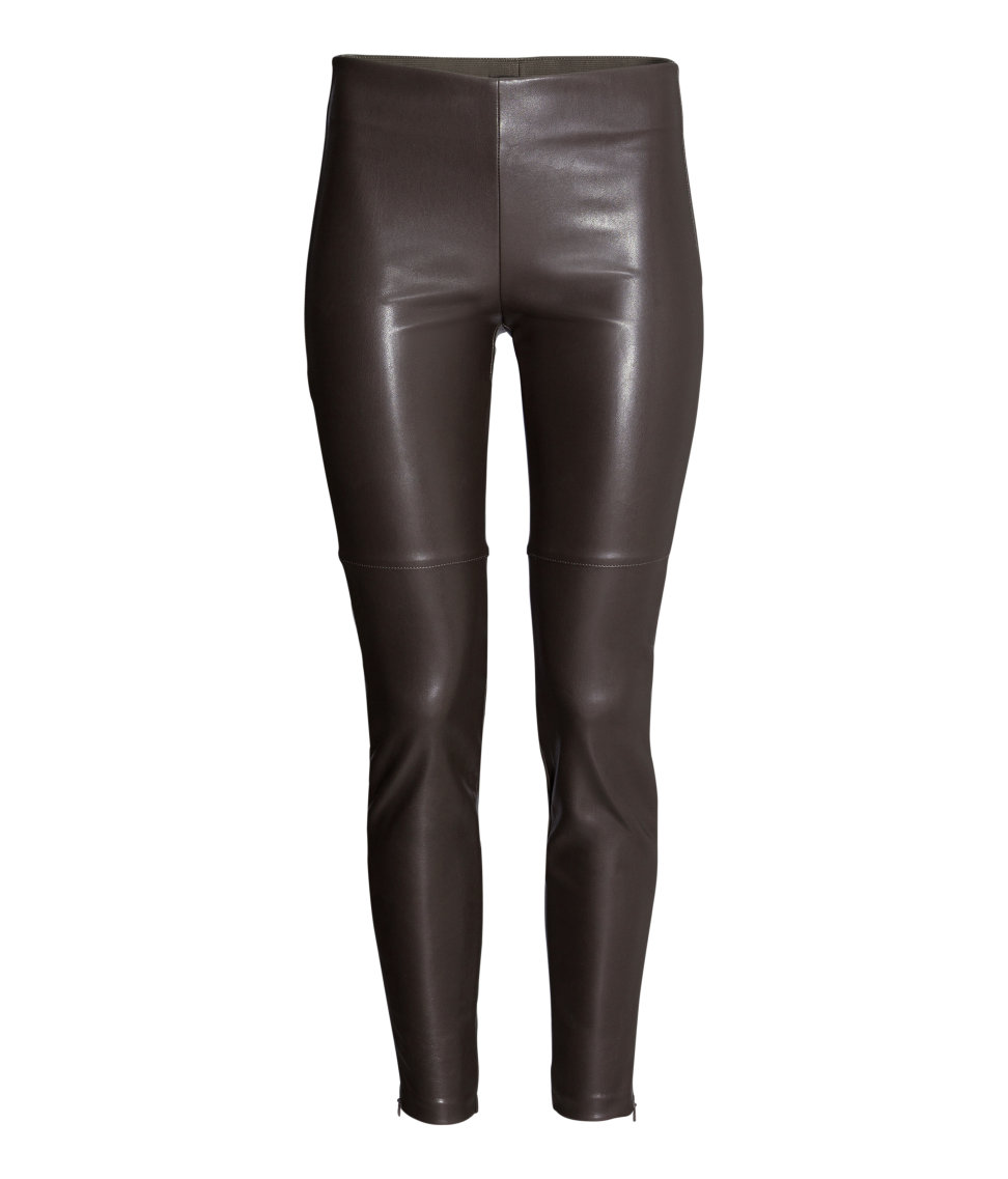 Imitation Leather Leggings. Available in black, brown, silver. H&M. $34.95.