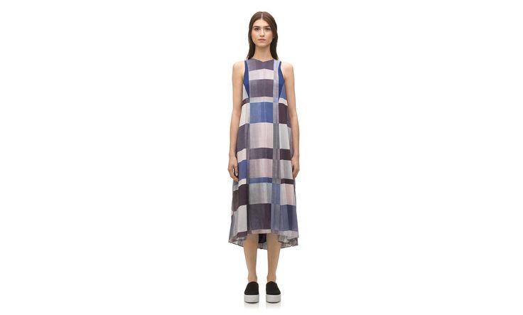 Kuni Patchwork Pleat Dress. Whistles. $435.
