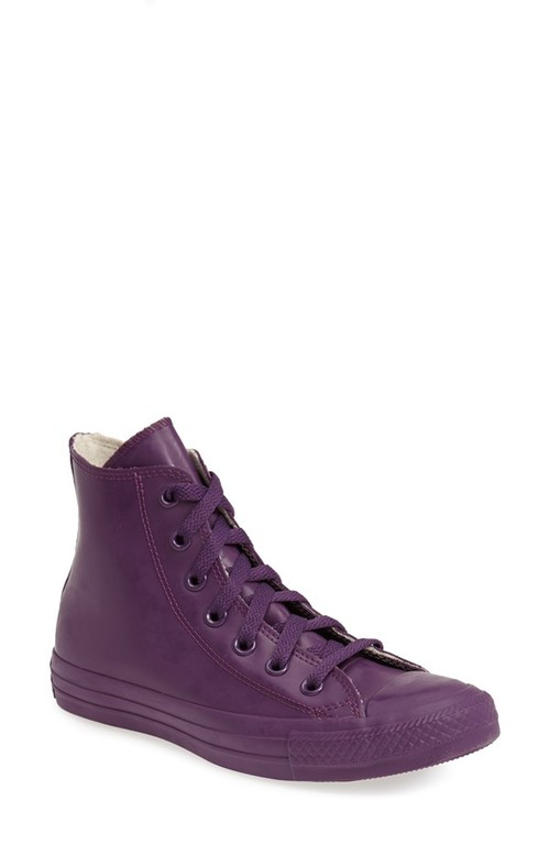 One of my VERY favorite things right now. These waterproof Converse are available for men, women AND kids. The colors are glorious and did I mention that they are waterproof?   Chuck Taylor All Star Waterproof Rubber Rain Sneaker. Available in multiple colors. Nordstrom. $64.95.
