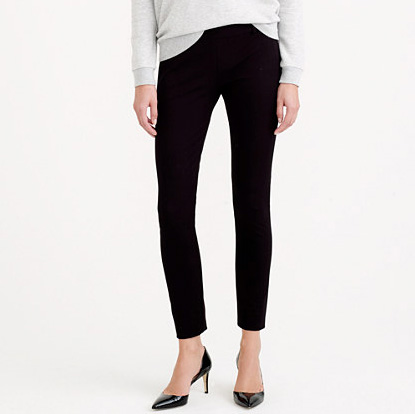 Tall Minnie Pant in Stretch Twill. Available in spinach, navy, black. JCrew. $89.50.