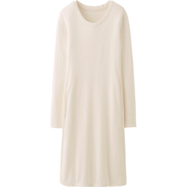 Heat tech Lounge Dress. Available in multiple colors. Uniqlo. $29.90. Did you see the pockets?!