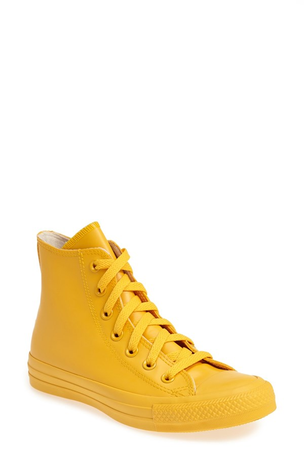 Converse Chuck Taylor All Star Waterproof Rubber Rain Sneaker. Available in multiple colors. Nordstrom. $64.95.