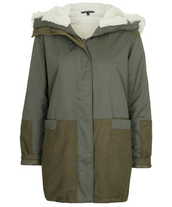 Tall Padded Parka Jacket. Available in khaki. Topshop. $190.00.