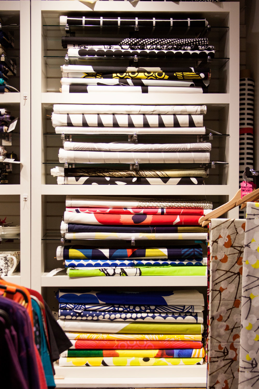Marimekko apparel, fabric, housewares. Oh, my! Photography by  Selena Kearney.