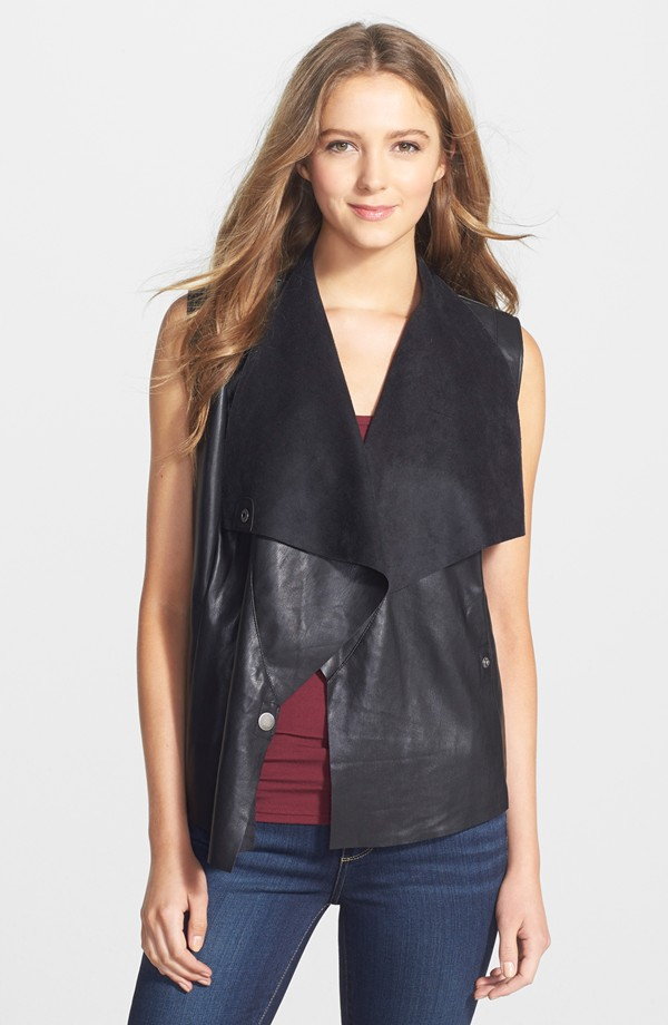 KUT from the Kloth Veronica Faux Leather Vest. Nordstrom. $88.