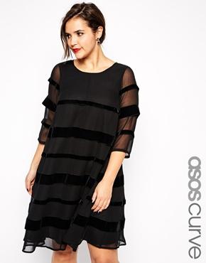 Swing Dress with Velvet. ASOS.com. $123.18