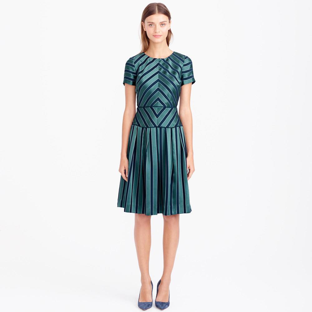 Collection Chevron Stripe Silk Dress. J. Crew. $495 plus additional 30% off with code: Jingle.