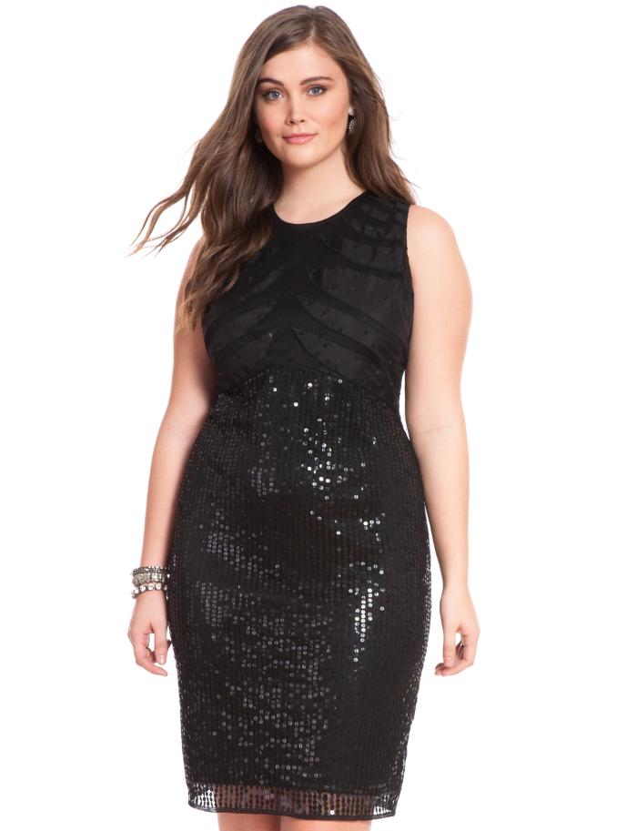 Studio Sequin Sheath Dress. Eloquii.com. $198.00