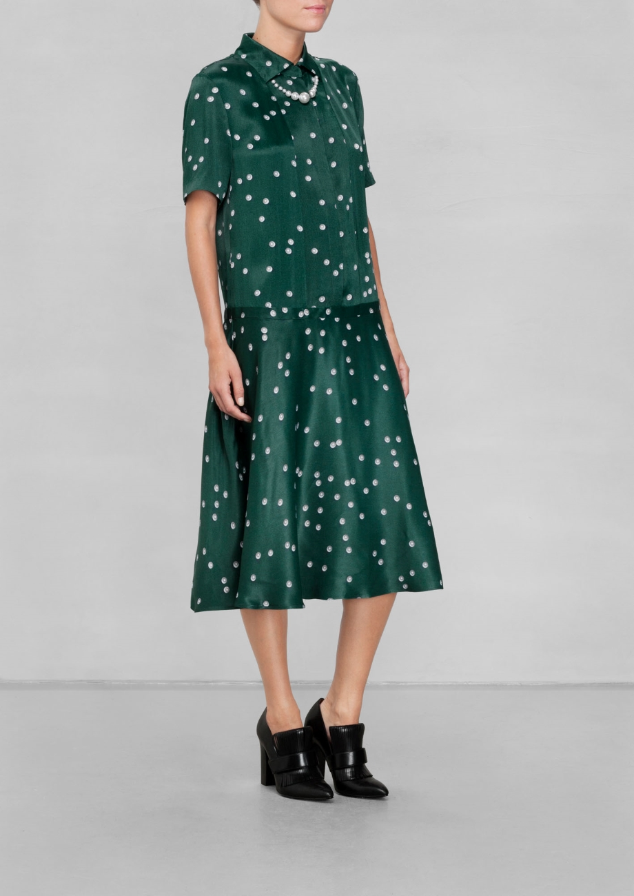Pearl Print Collar Dress. & Other Stories. Was: $130 Now: $65.