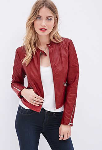Quilted Faux Leather Jacket. Forever 21. $37.80.