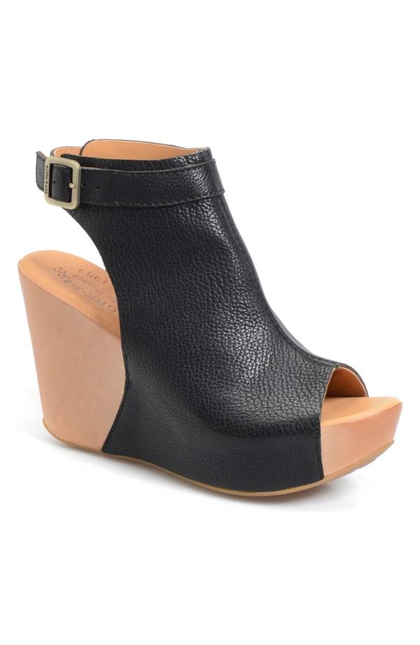 Kork-Ease Berit Wedge Sandal. Available in black, golden sand tan, vapor grey. Nordstrom. $174.95.