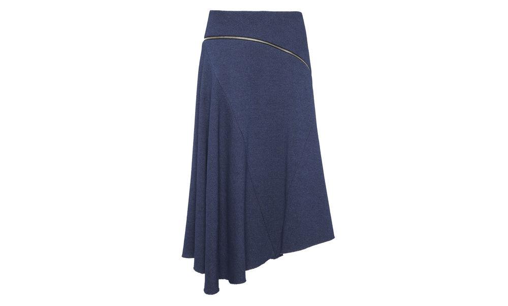 Textured Chambray Zip Skirt. Whistles. $280.