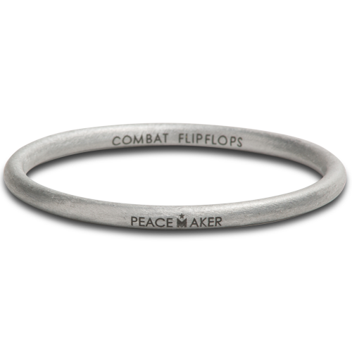 Peace Maker Bangle. Combat Flip Flops. $50.