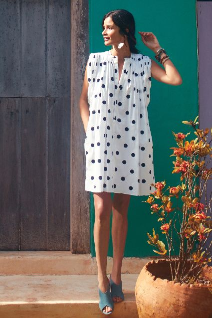Dotted Chambray Shift. Anthropologie. $426.