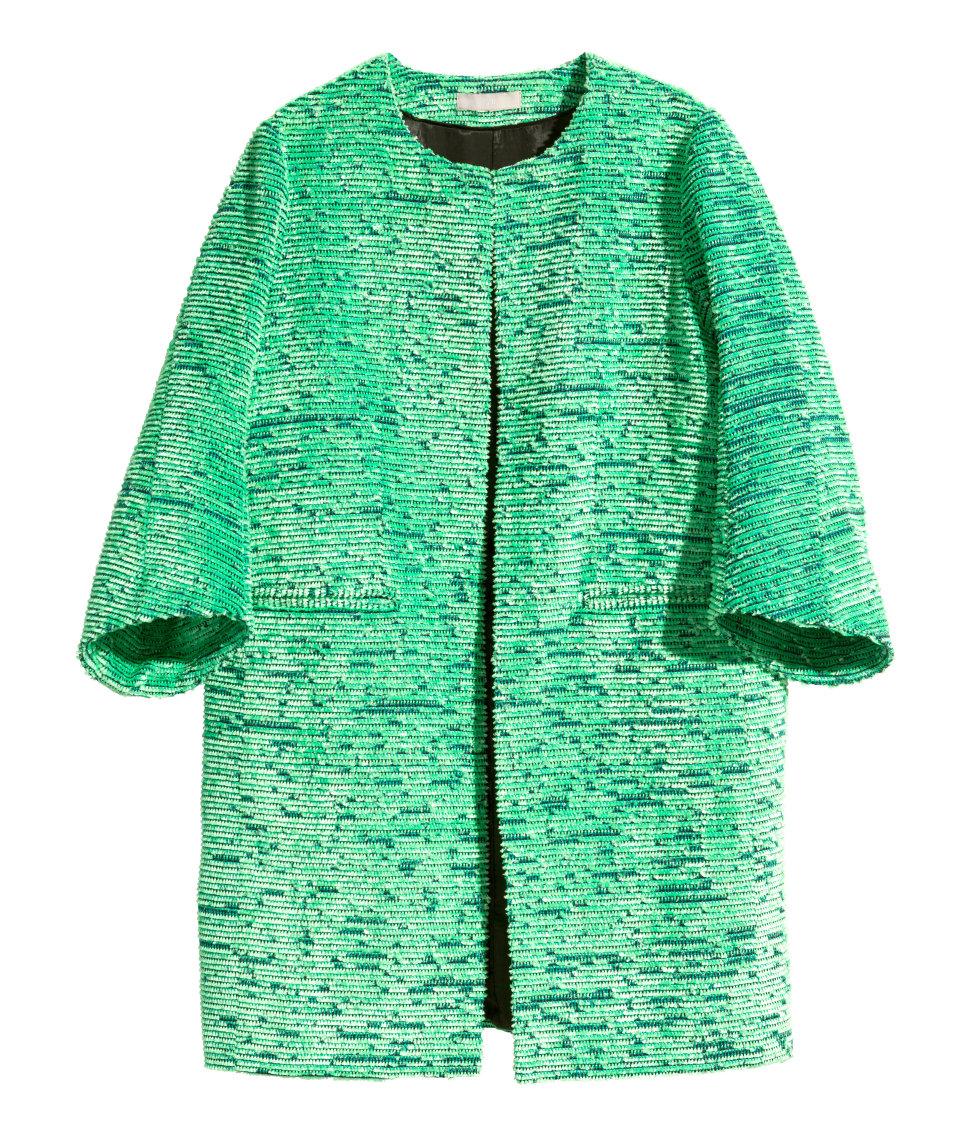 Jacquard Weave Coat. H&M. $129.
