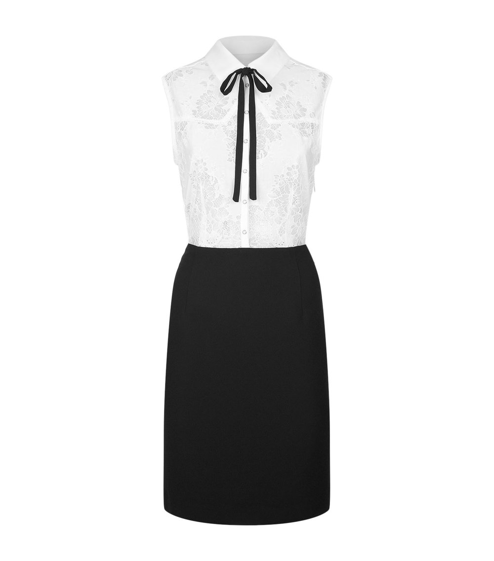 Claudie Pierlot Lace Insert Collar Dress. Harrods. $430.
