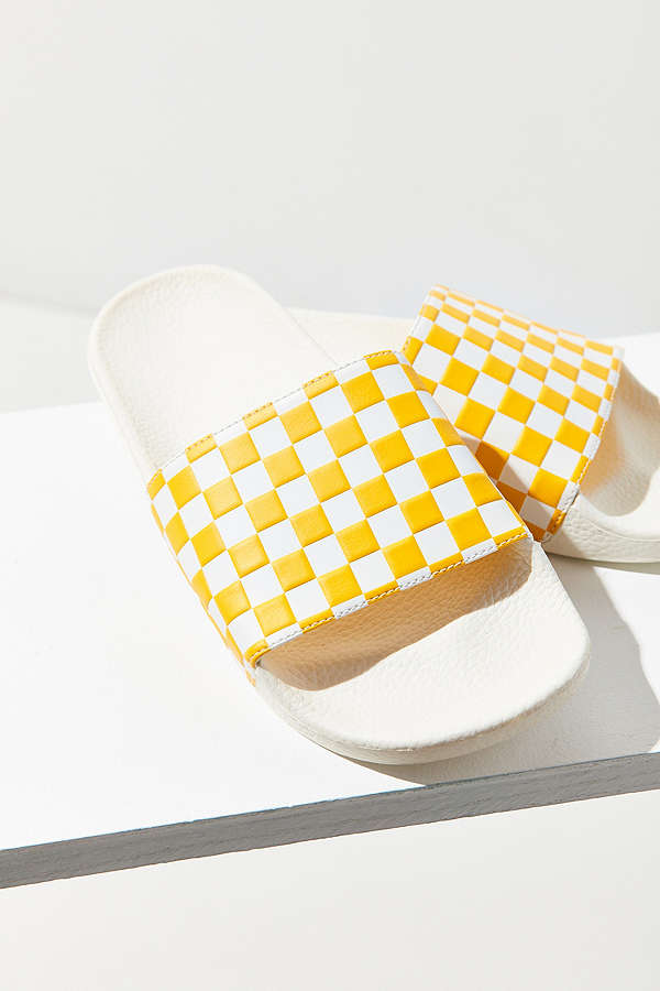 Vans Checkerboard Pool Slide. Available in two colors. Urban Outfitters. $30.