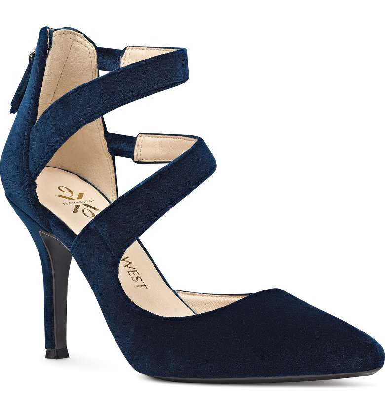 Nine West Florent Asymmetrical Strappy Pump. Available in multiple colors. Nordstrom. $109.