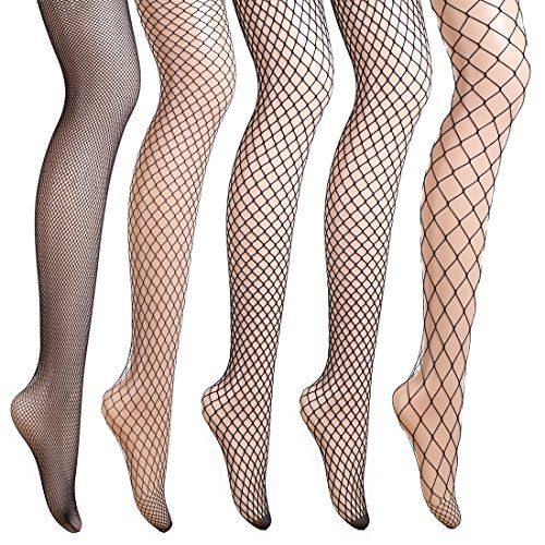 akiido Fishnets Stockings 5 Pairs Stylish Black Pantyhose Black Tights. Amazon. Was: $20. Now: $11.