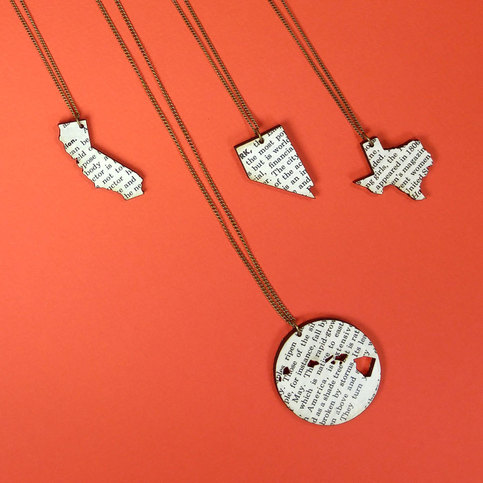 State Necklace - Novel. Yes and yes designs. $25.