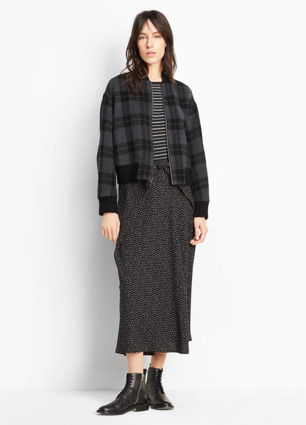 Polka Dot Tie-Front Skirt. Vince. $395.