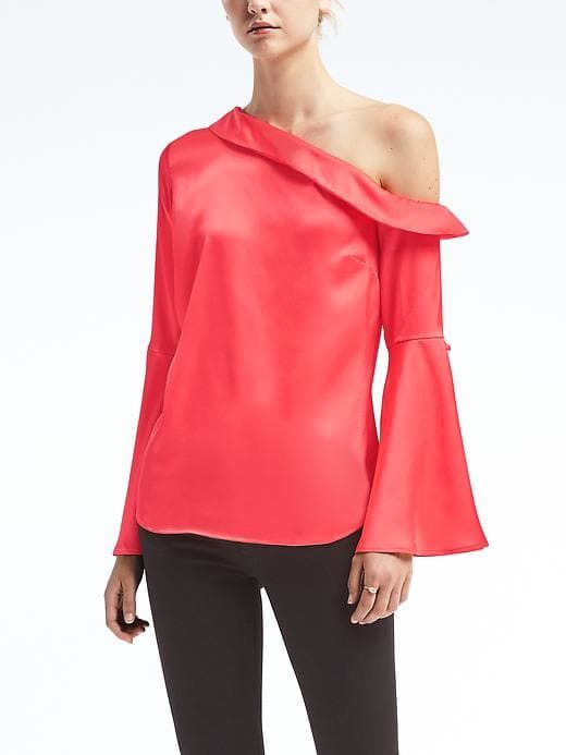 One-Shoulder Flare-Sleeve Top. Banana Republic. Was: $88. Now: $44.