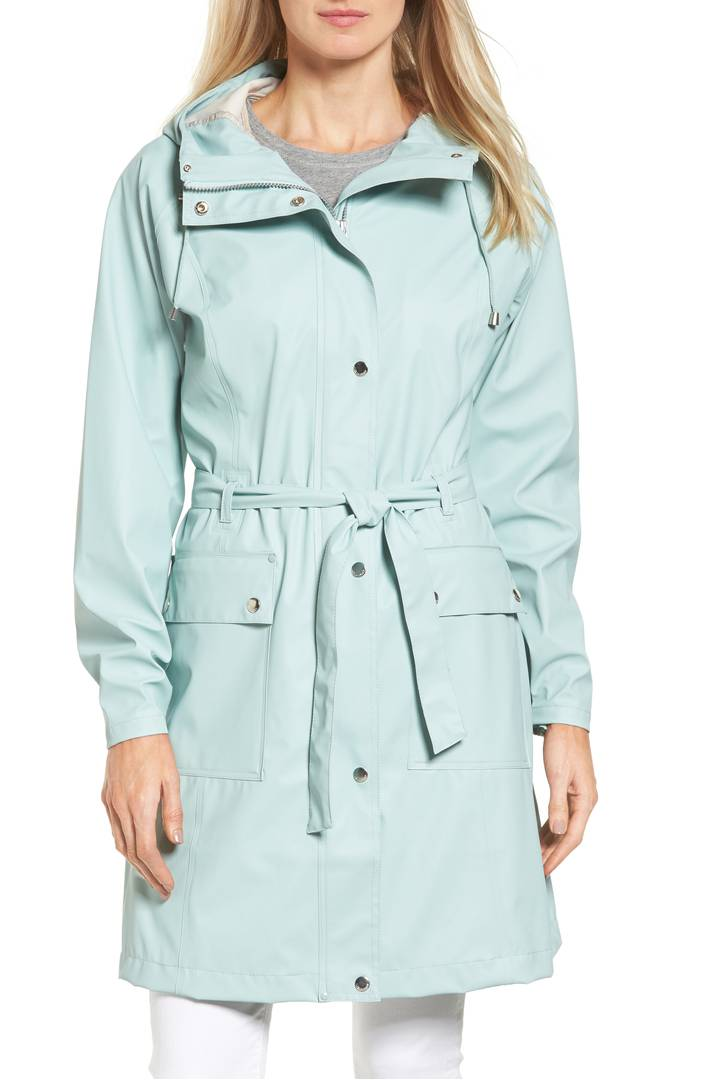 Ilse Jacobsen Hornbæk Hooded Raincoat. Available in multiple colors. Nordstrom. $179.