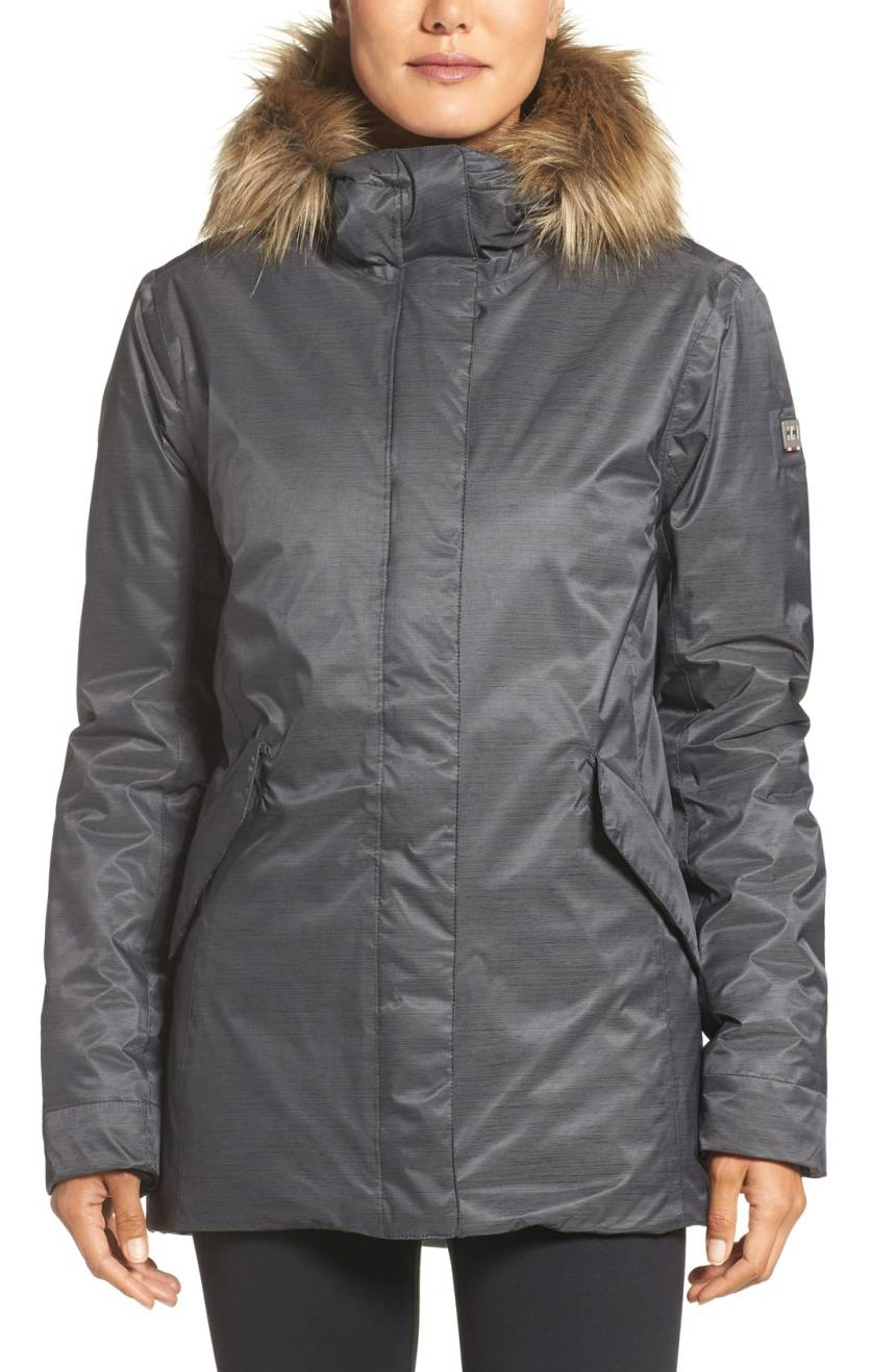Helly Hansen Hilton Waterproof Parka with Faux Fur Trim. Available in two colors. Nordstrom. $320.