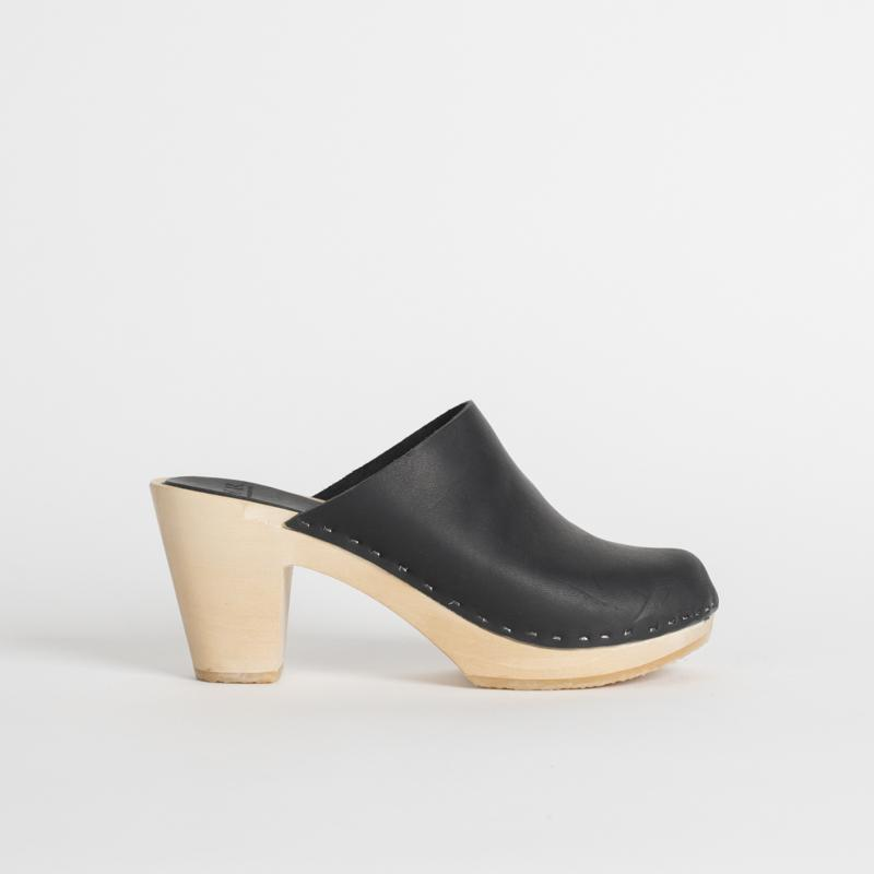 CLEMENTINE CLOSED TOE CLOG, HIGH HEEL. Available in multiple colors. Bryr. $264.