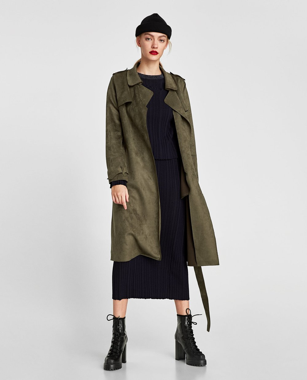 FAUX SUEDE TRENCH COAT. Zara. $89.