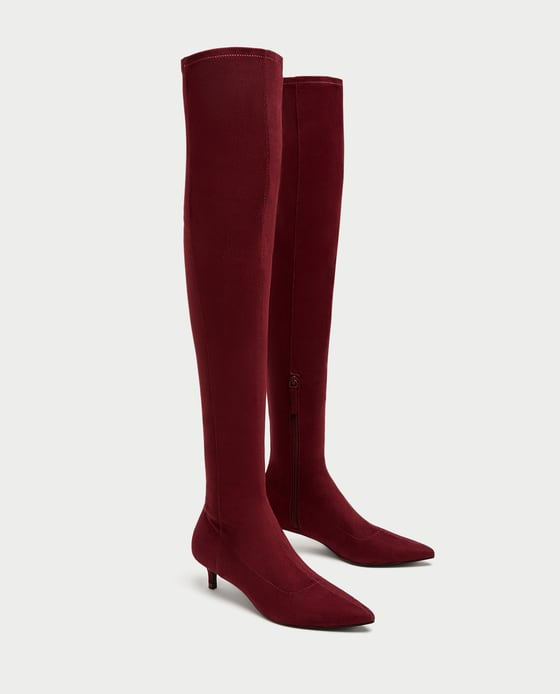 OVER-THE-KNEE HIGH HEEL BOOTS. Zara. $49.