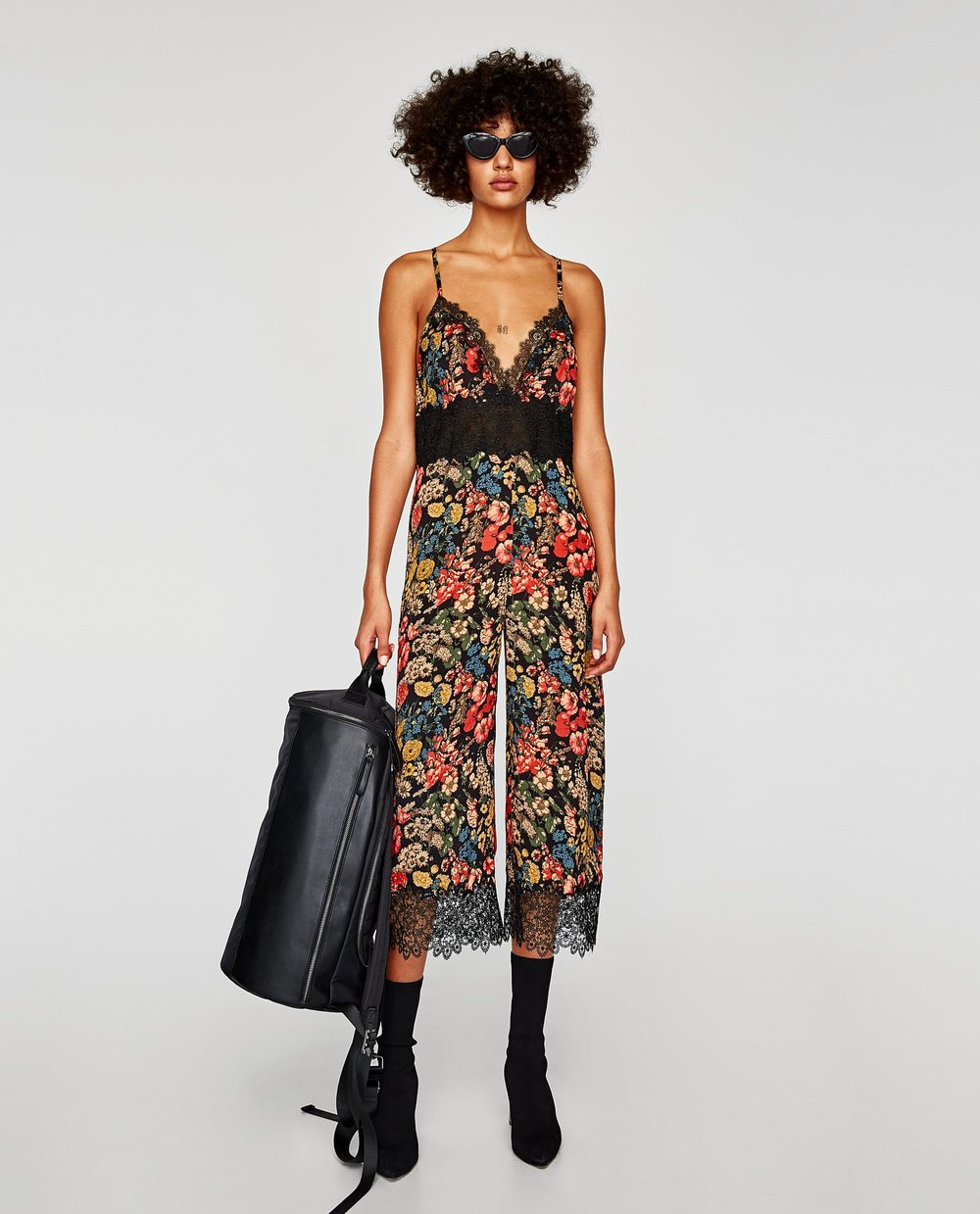 CROPPED LACE JUMPSUIT. Zara. Was: $89. Now: $35.