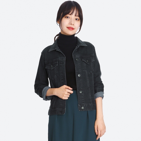 DENIM JACKET. Available in three colors. Uniqlo. $39.