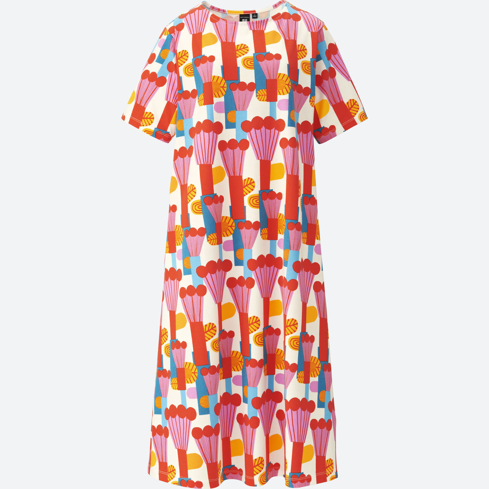 MARIMEKKO SHORT-SLEEVE GRAPHIC DRESS. Uniqlo. $19.