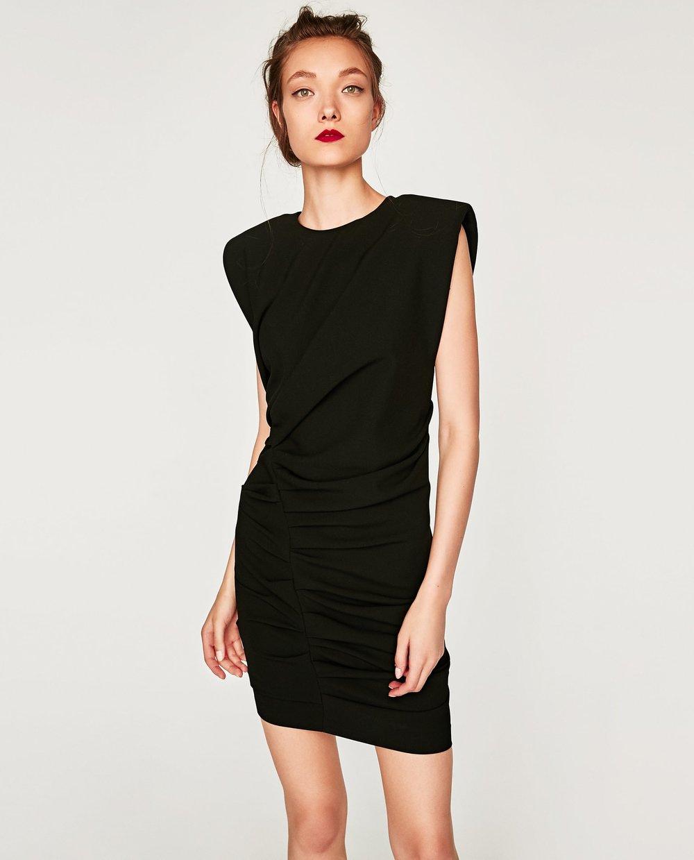 MINI DRAPED DRESS. Zara. Was: $89. Now: $35.