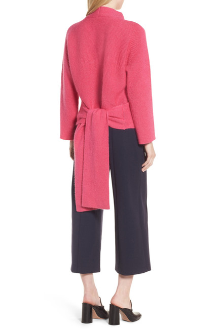 It's easy to forget that you can find gems at Nordstrom Rack online. It's also easy to forget that you can stay warm while channeling spring brights.   Lewit  Tie Back Sweater. Nordstrom Rack. $159.