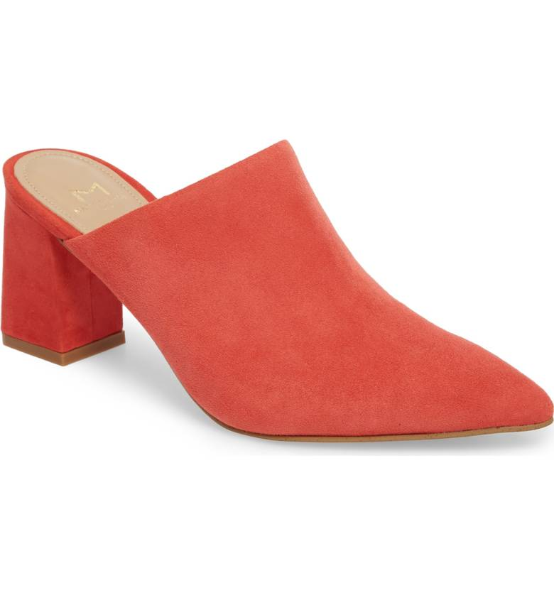 Mules! If you can walk in them, grab yourself at least one pair. This closed toe shoe is a great way to introduce that pop of color regardless of the weather.  Marc Fisher LTD Zivon Pointy Toe Mule. Available in multiple colors. Nordstrom. Was: $149-159. Now: $96 and up.