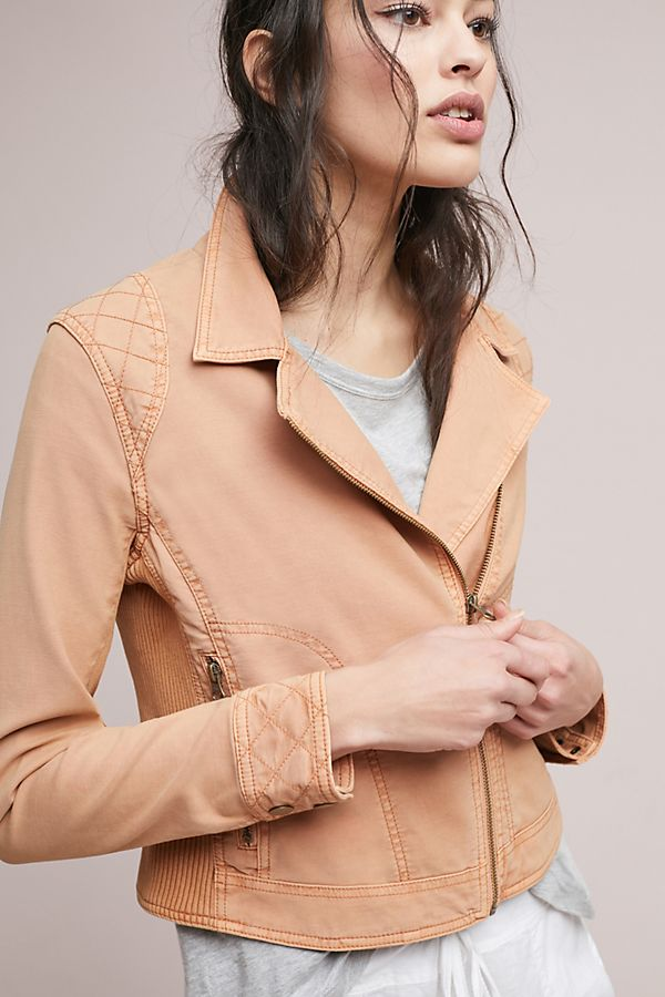 There are never enough jackets in the world. When you find one that is your style and a color you adore, don't pass it up.  Easy Moto Jacket. Available in two colors. Anthro. $138.