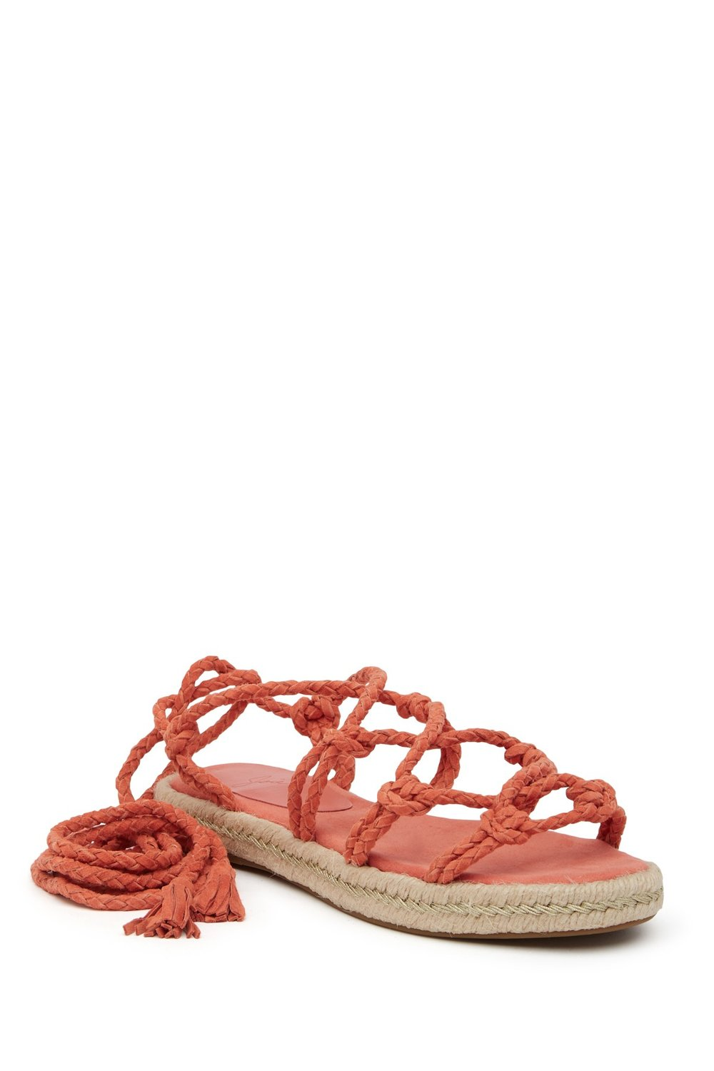 The fearless among us will rock these lace up espadrilles with the romper above. Monochromatic for the win, I say! Or use these as your pop of color. Just right for a more bohemian style. Love them with white jeans....   Joie Ceasar Ghillie Lace Espadrille Sandal. Nordstrom Rack. Was: $228. Now: $99.