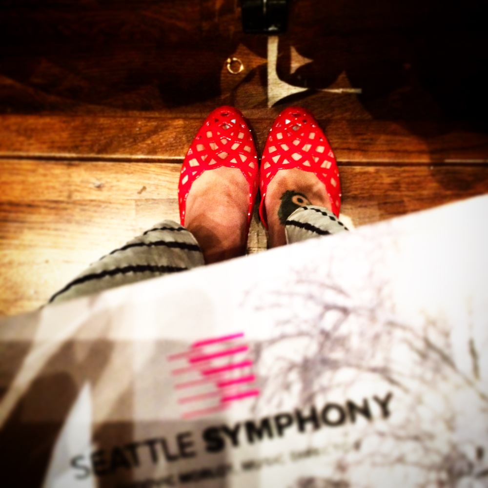 The ideal shoe for an evening at the  Seattle Symphony  after a long day running around downtown.