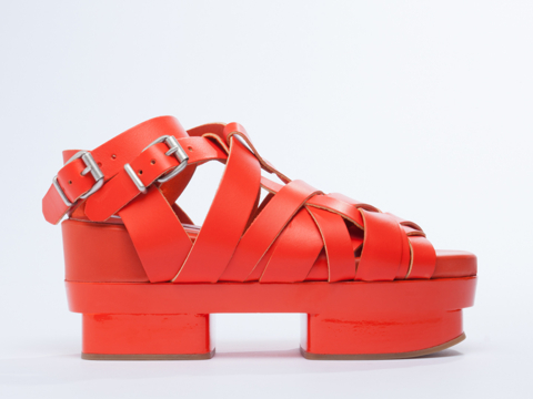 Flatforms! One of my favorite things, for sure. Acne Studios Tarou. Available in orange, yellow. Solestruck. Was: $669 Now: $569.