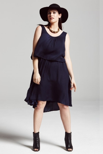 Navy Overlay Dress. Elvi Fashion UK. $59.91